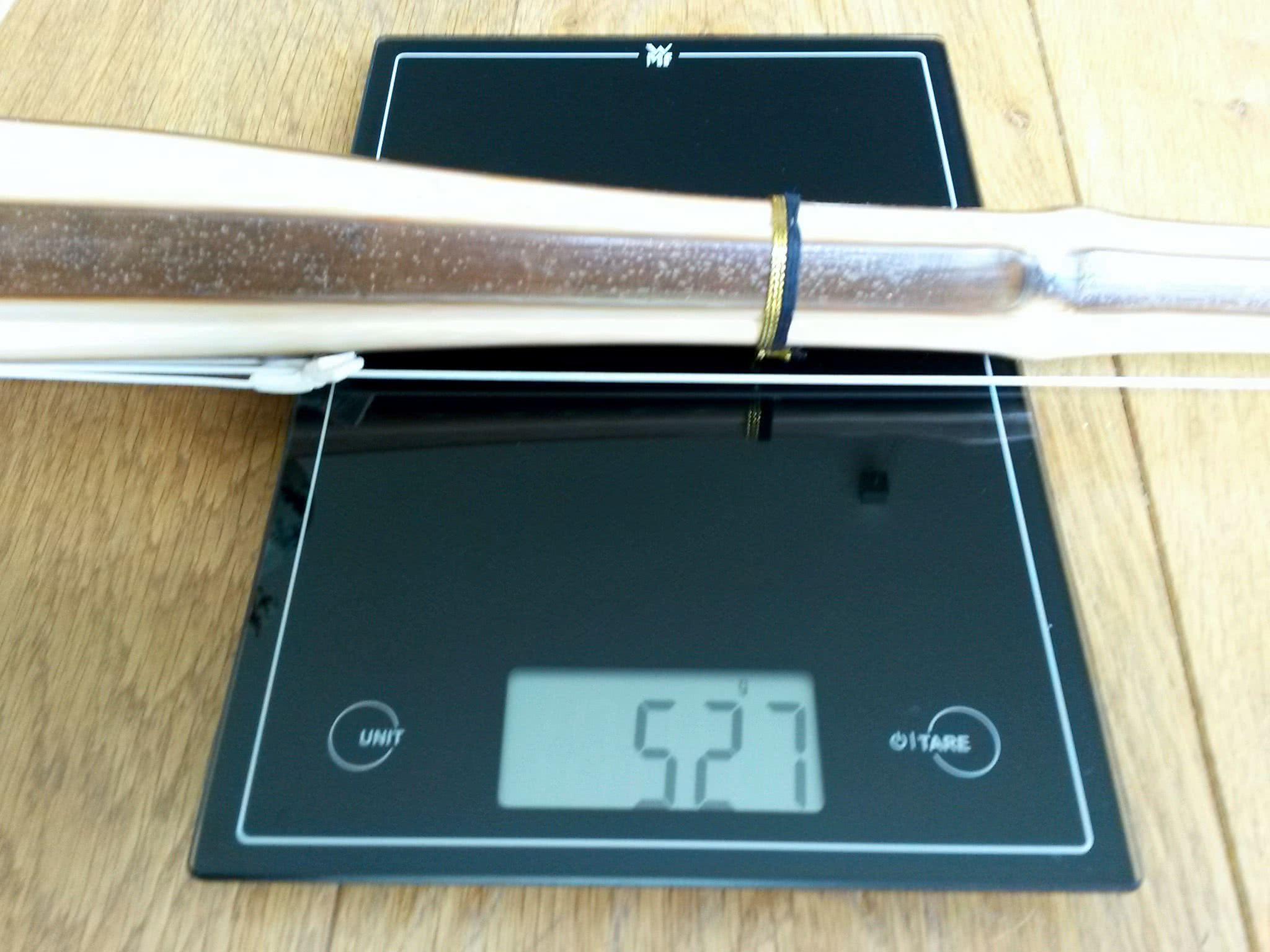 Shinai Gewicht messen