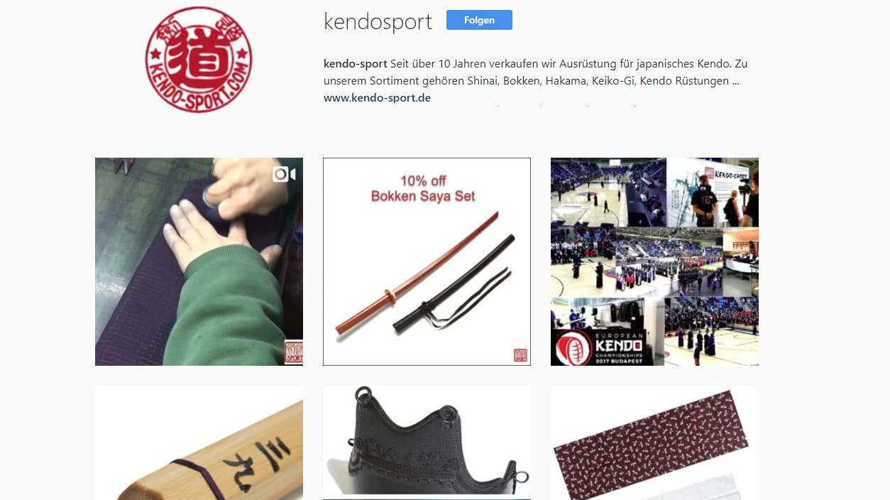 kendo-sport bei Instagram - kendo-sport Blog