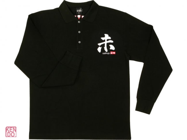 Poloshirt balck with your animal emblem